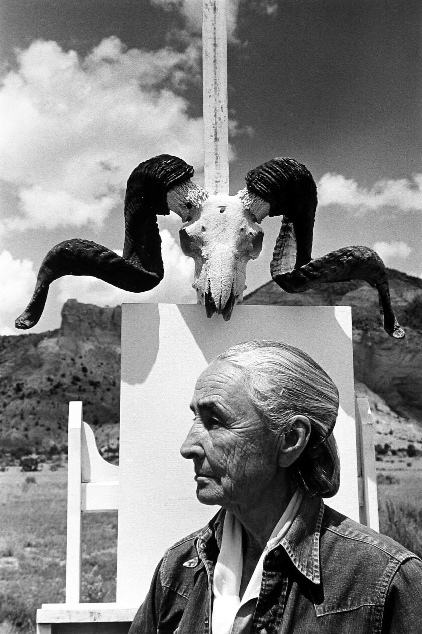 """*****ONE TIME USE***** """"Georgia O'Keeffe, 1968."""" Credit: Arnold Newman/Fahey/Klein Gallery An im"""