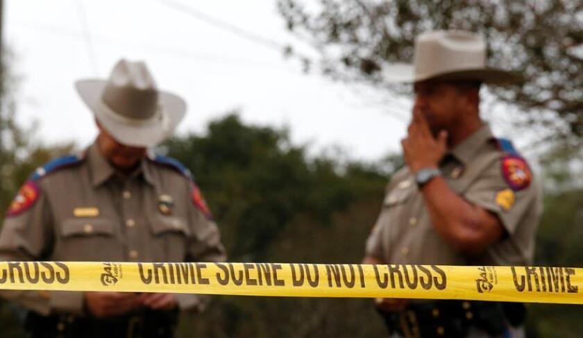Vista de dos policías de Texas. EFE/Archivo