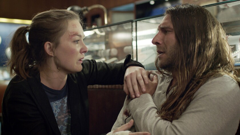 """Virginia Kull and Zach McGowan in the film """"Imperfections."""""""