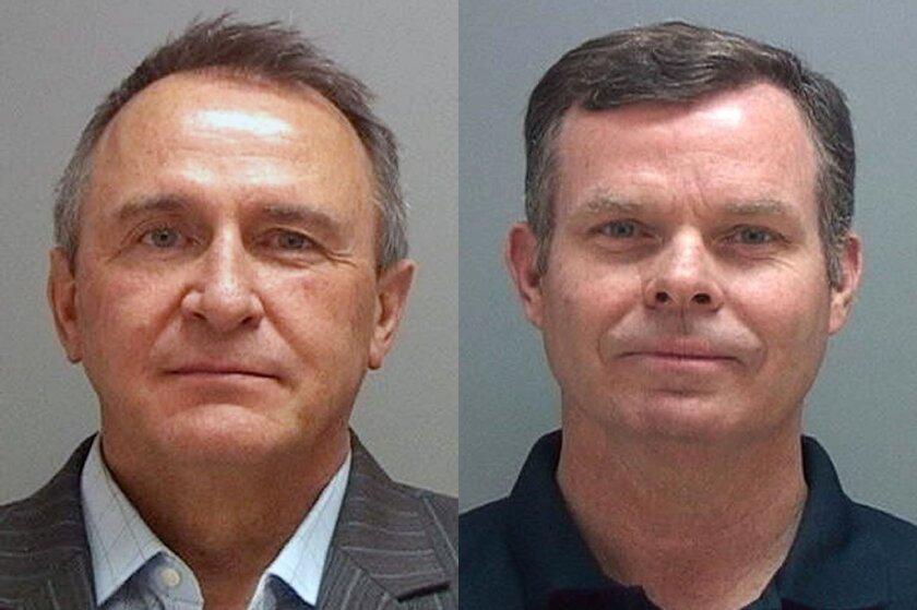 Former Utah attorneys general Mark Shurtleff, left, and John Swallow.