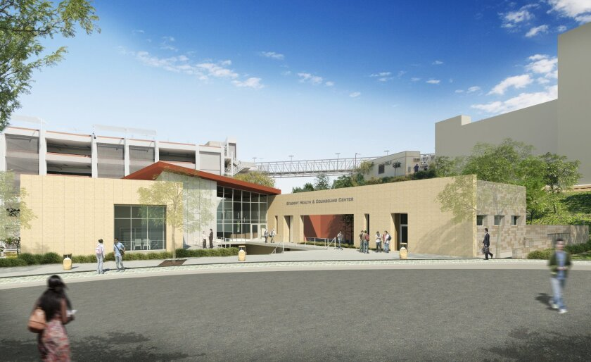 A rendering of the Cal State San Marcos Student Health and Counseling Services Building.