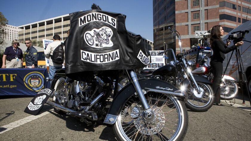 USA - Crime - Mongols Motorcycle Gang Arrest