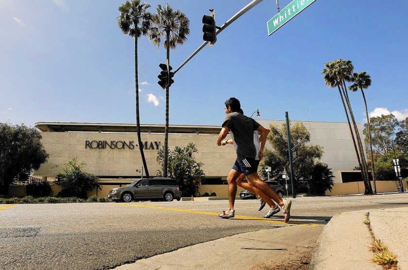 The former Robinsons-May store near the intersection of Wilshire and Santa Monica boulevards in Beverly Hills has been unoccupied for nearly a decade.