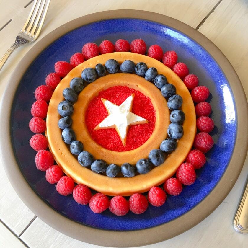 Captain America's shield waffles
