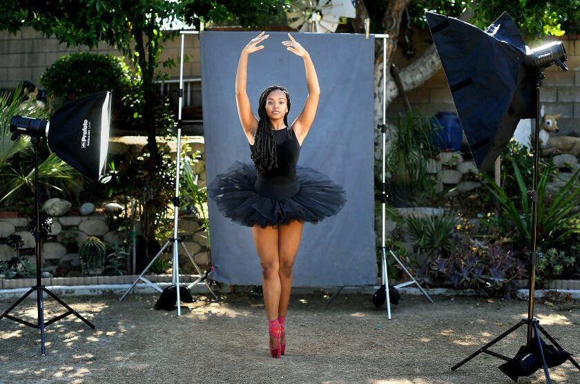 Arianna Carson, who plans to study dance at SUNY Purchase in the fall, is photographed near her home in Rowland Heights.