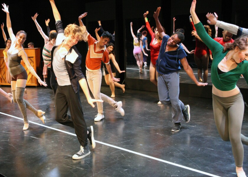 The Chance Theater's dancers perform Hazel Clarke's choreography.