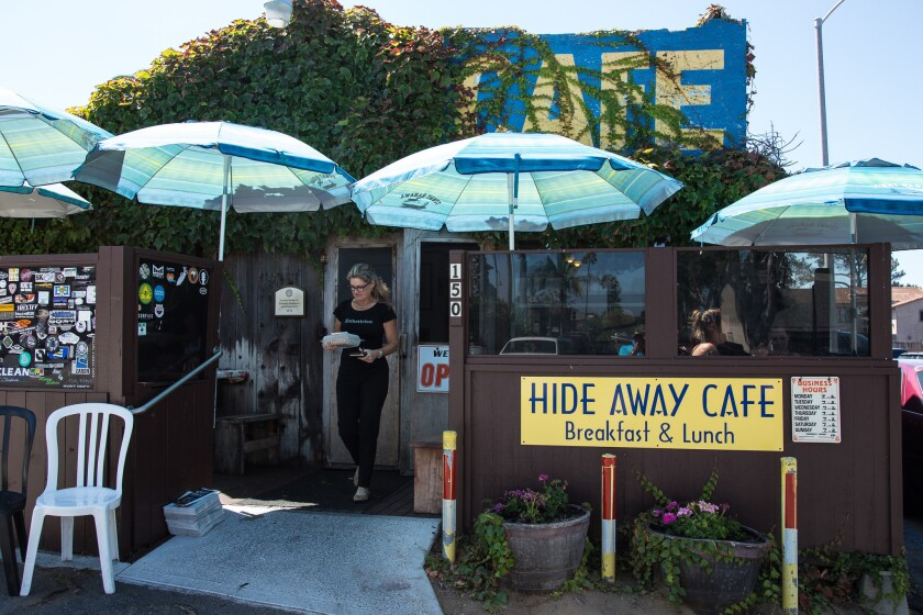 The Hideaway Café is the kind of place where the waitresses call customers by name and ask about their kids.