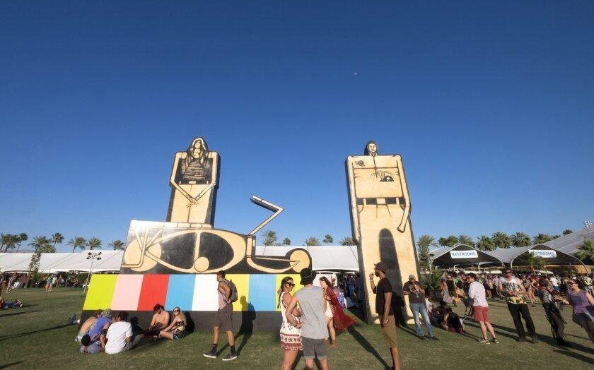Art around Coachella provides some visual stimulation.