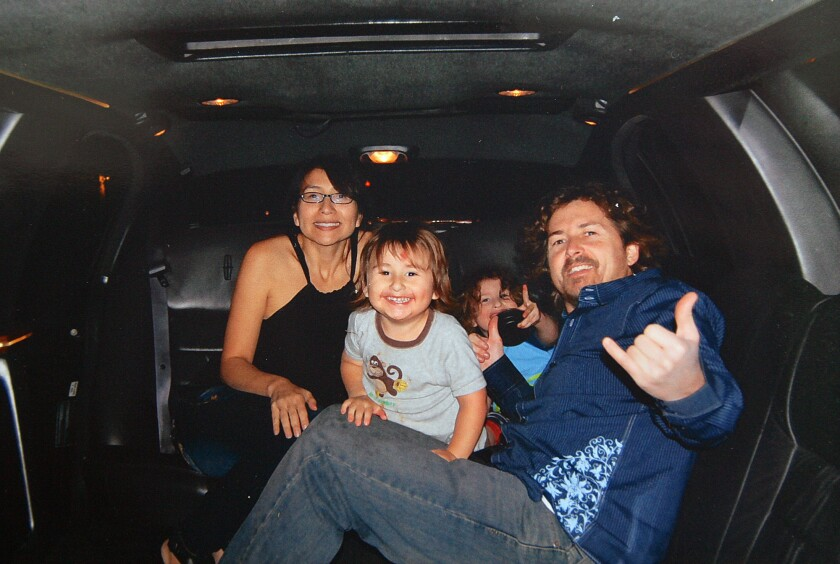 Joseph and Summer McStay are pictured with their two children, Joseph Jr. 3, front, and Gianni, 4, before their disappearance in 2010.