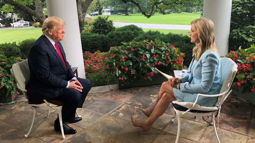 Donald Trump and Ainsley Earhardt