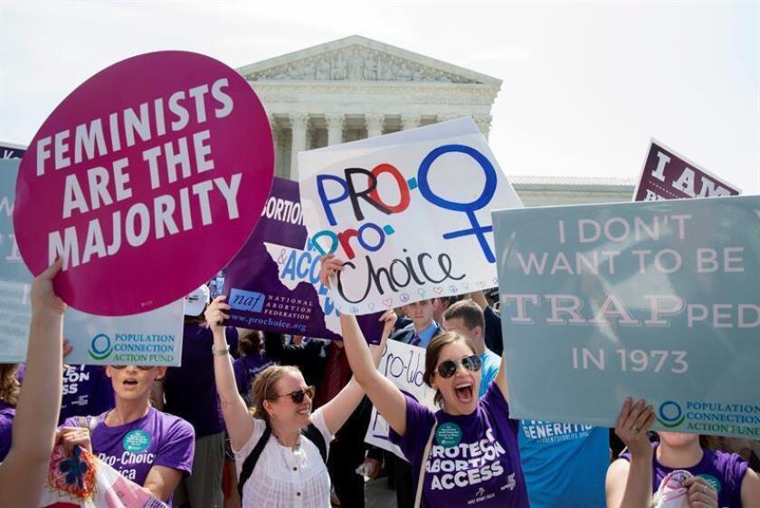 El número de abortos registrados en el país en 2015, el último año con datos, supuso la cifra más baja en al menos la última década, según un sondeo realizado por los Centros de Control y Prevención de Enfermedades (CDC, en inglés) publicado hoy. EFE/ARCHIVO