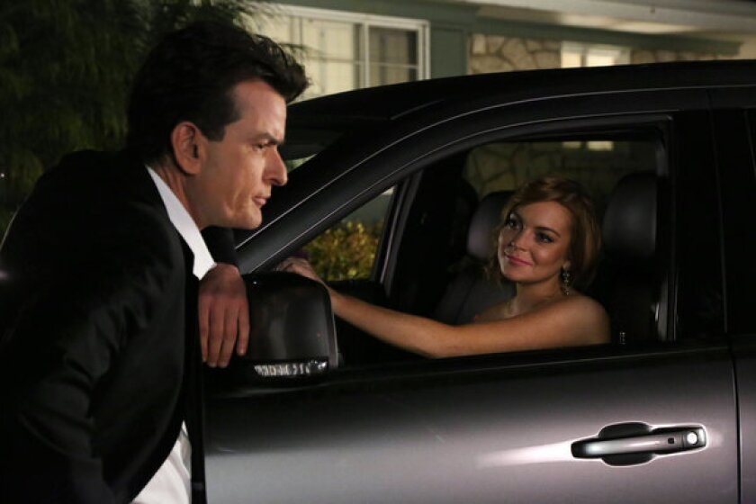 Lindsay Lohan boosts Charlie Sheen's 'Anger Management' on FX