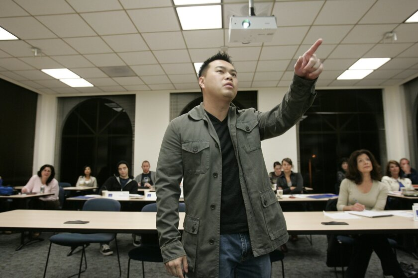 Social media expert Linh Tang was guest speaker in a Social Media class taught by CJ Lucke, CEO of Public Remix, at the USD Institute for Sales and Business Development. Its eight courses are taught in the evenings.