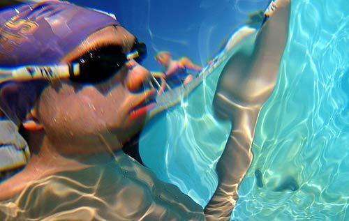 Blind swimmer