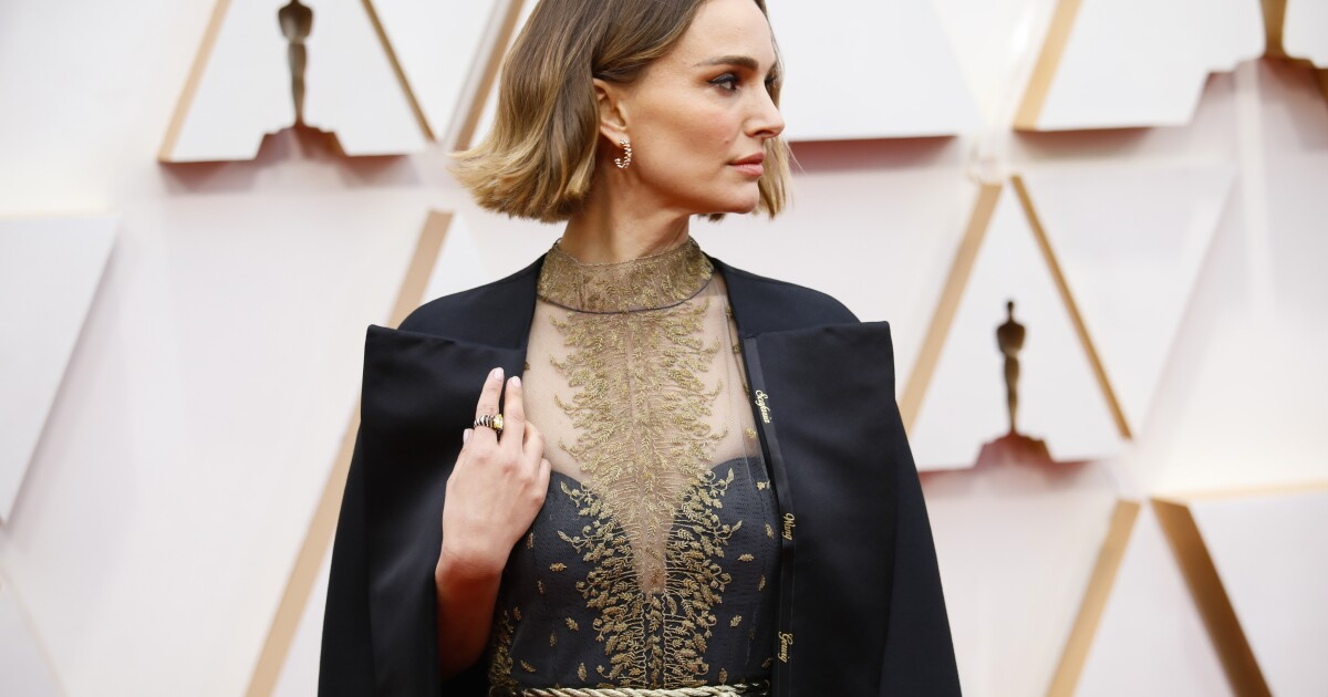 Natalie Portman dons cape with names of snubbed female directors on Oscars carpet