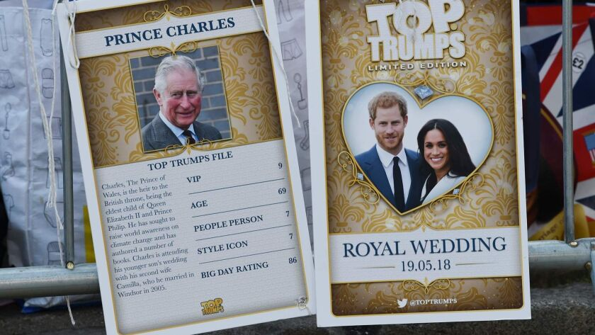 Royal family trading cards were among the memorabilia for sale by vendors.