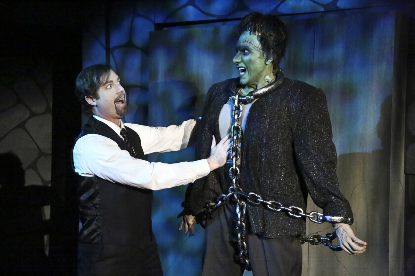 "John David Wallis and Hector S. Quintana in ""Young Frankenstein"" at the MET Theatre"