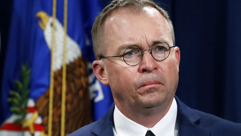 Mick Mulvaney ascended to the chief of staff post in January after the departure of John Kelly.