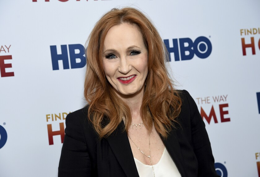 "FILE - In a Wednesday, Dec. 11, 2019 file photo, author and Lumos Foundation founder J.K. Rowling attends the HBO Documentary Films premiere of ""Finding the Way Home"" at 30 Hudson Yards, in New York. ""Harry Potter"" author J.K. Rowling has fallen under scrutiny after her series of tweets Saturday, June 6, 2020 were deemed as trans phobic.(Photo by Evan Agostini/Invision/AP, File)"