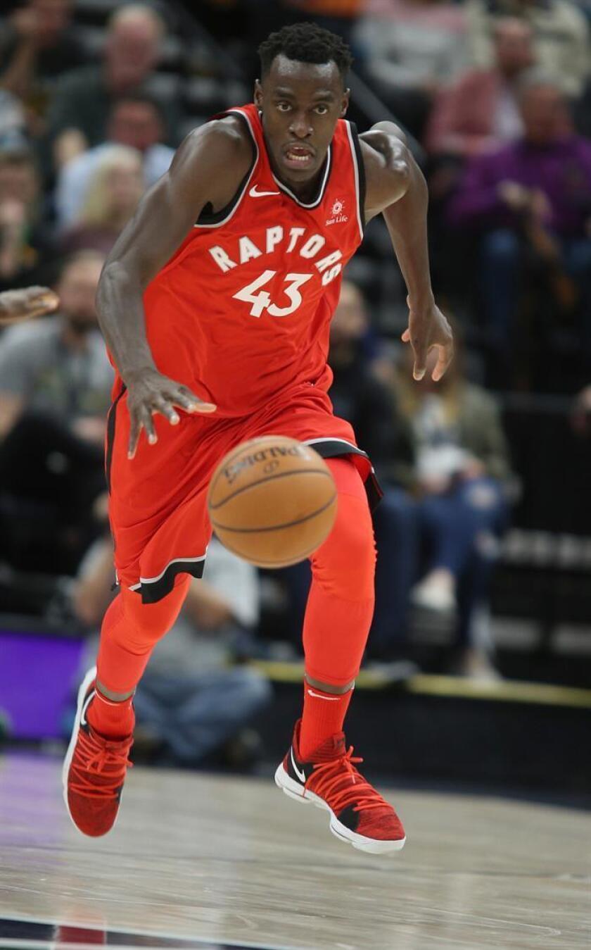 En la imagen, el jugador Pascal Siakam de los Raptors de Toronto. EFE/Archivo