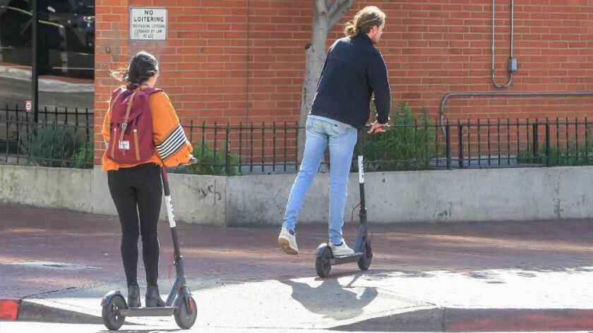 Is Southern California's 'dockless' electric scooter fad a public
