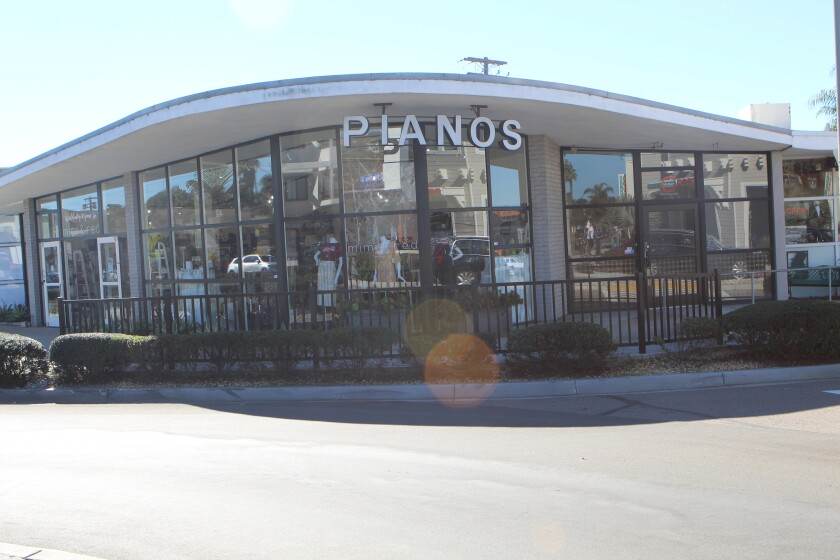 The so-called Piano Building, 5680 La Jolla Blvd., was built by architect William Kesling.