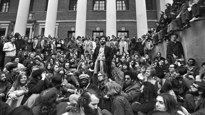 Jerry Rubin speaking at Harvard in 1969.