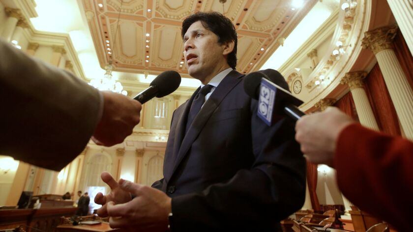 State Senate leader Kevin de León has focused his candidacy on generational change and keeping a more aggressive posture against the policies of President Trump than U.S. Sen. Dianne Feinstein.