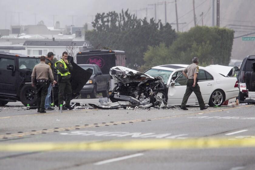 PCH crash in Malibu
