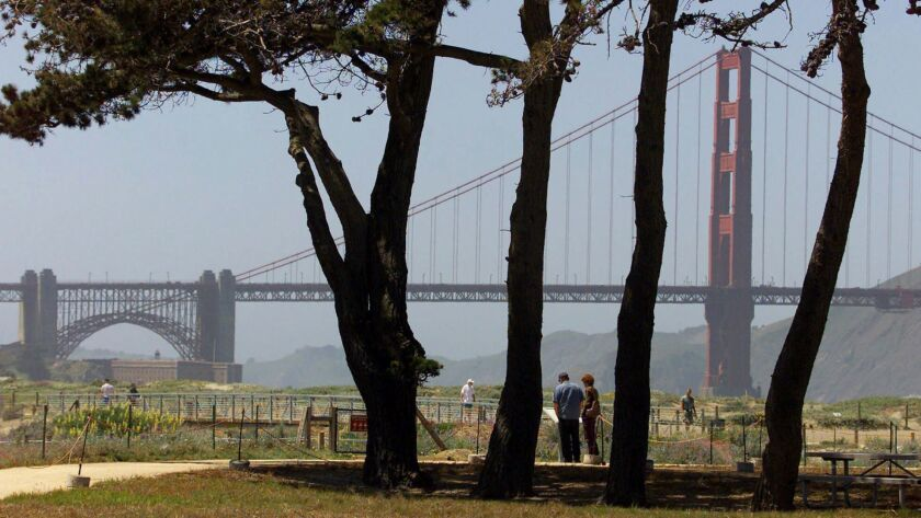 Crissy Field in San Francisco is the site of a rally Saturday by the conservative group Patriot Prayer.