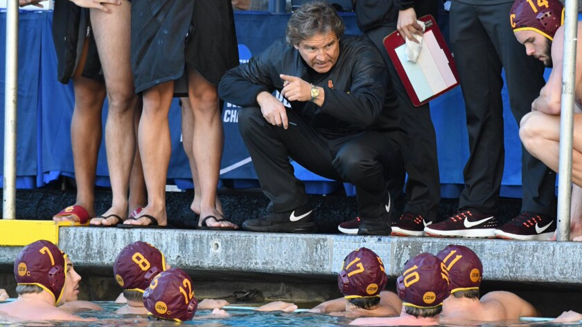 Coach Jovan Vavic has guided the USC men's water polo team to a 24-1 record and into another national championship game.