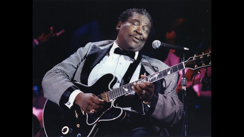 B.B. King performs at the Rhythm Cafe in Santa Ana in 1993.