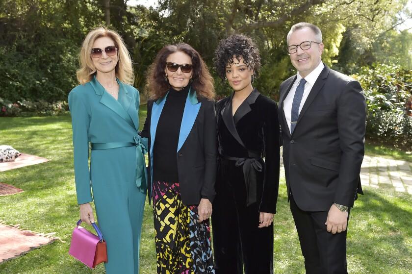 Dawn Hudson, fashion designer Diane von Furstenberg, Tessa Thompson and Bill Kramer