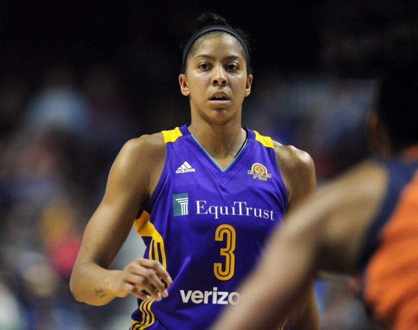 Candace Parker had 15 points with six rebounds for the Sparks in a win over the Stars, 74-61, on June 4.