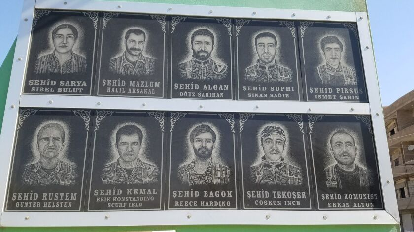 So many Western volunteers, including Americans, have fought and died alongside Kurdish volunteers b
