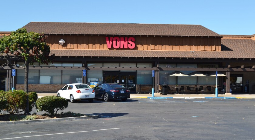 The Vons grocery store in Poway's Town and Country Center.