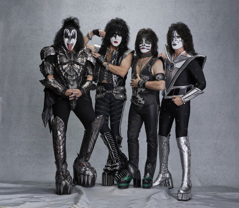 Gene Simmons, left, Paul Stanley, Eric Singer and Tommy Thayer of KISS.