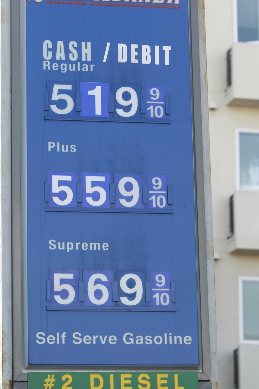 Gas Prices San Diego >> San Diego Gas Prices Break Record The San Diego Union Tribune
