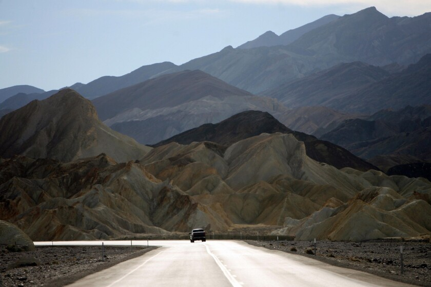 Road 190 in Death Valley is pictured 19