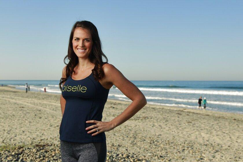 Runner Nicole Dobransky at Cardiff State Beach.