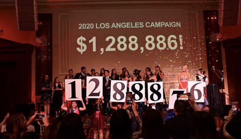 Sixteen high school students in Los Angeles County raised $1,288,886 for cancer research and treatments through the Leukemia & Lymphoma Society's Students of the Year campaign.