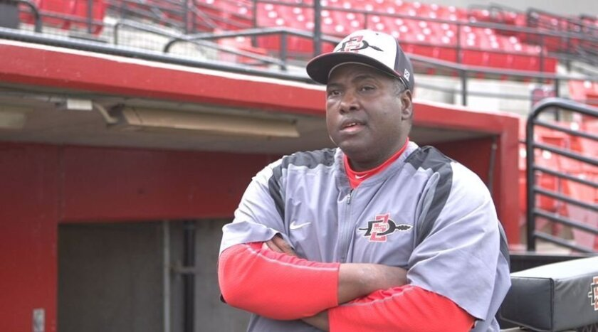 San Diego State baseball coach and baseball Hall of Famer Tony Gwynn.
