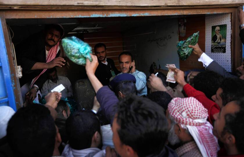 In Yemen, chewing khat offers ritual and repose