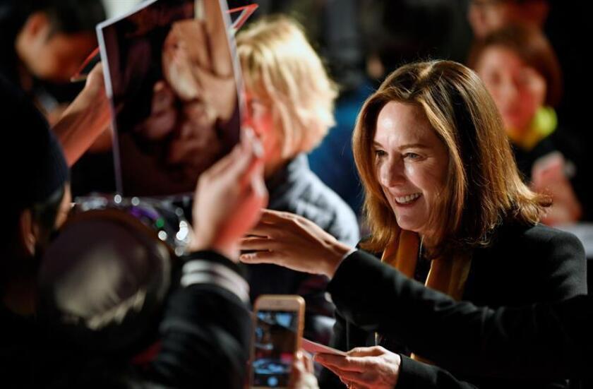 """Kathleen Kennedy, presidenta de Lucasfilm y arquitecta del universo de películas de Disney sobre la saga """"Star Wars"""", seguirá al frente de la compañía tres años más, hasta 2021, informó hoy The Hollywood Reporter. EFE/ARCHIVO"""
