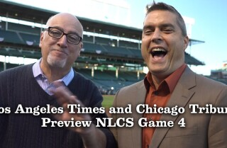 Dodgers vs. Cubs, Game 4: Bill Plaschke and David Haugh discuss a Dodgers sweep