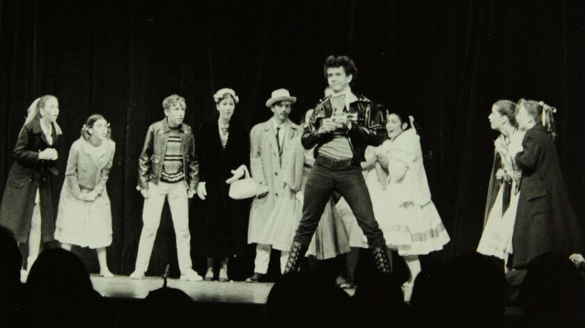 HANDOUT PHOTO: Brian Stokes Mitchell, center, wearing black, as Conrad Birdie in the 1973 San Diego