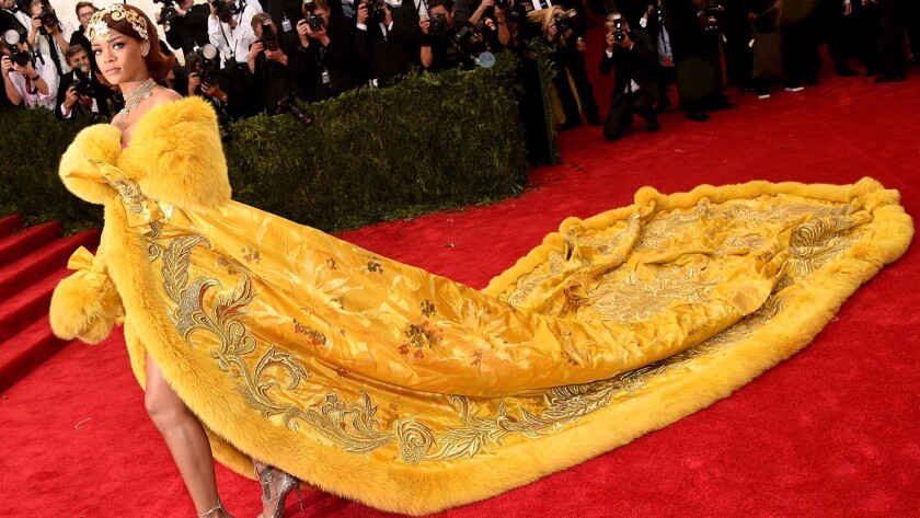 Rihanna at the Met Gala on May 4, 2015 in New York City.