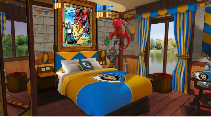 Rendering of a knight-themed room