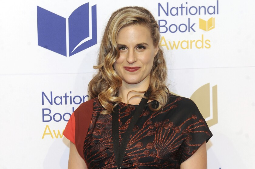 """FILE - In this Nov. 14, 2018 file photo, Lauren Groff attends the 69th National Book Awards Ceremony and Benefit Dinner at Cipriani Wall Street in New York. Groff is a National Book Award finalist for her third consecutive book. She was nominated in the fiction category Tuesday for her historical novel """"Matrix."""" (Photo by Brad Barket/Invision/AP, File)"""