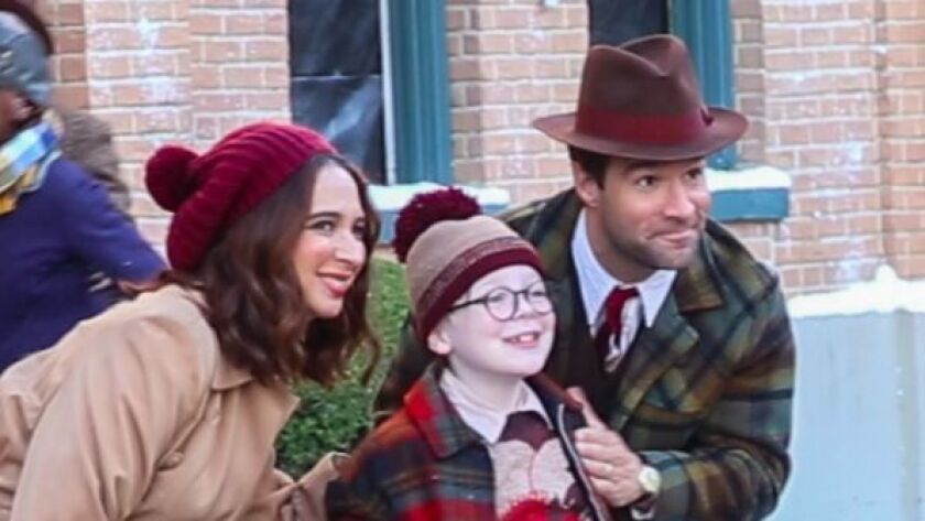 """Maya Rudolf, left, Andy Walden and Chris Diamantopoulos star in the 2017 production of """"A Christmas Story Live!"""""""